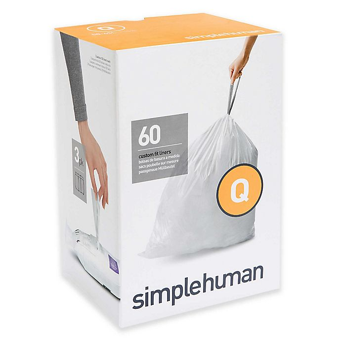Alternate image 1 for simplehuman® Code Q 50-65-Liters Custom Fit Liners