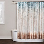 Saturday Knight Woodland Walk Shower Curtain in Teal