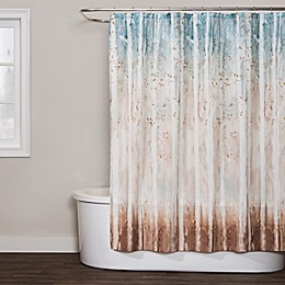 Saturday Knight Woodland Walk Shower Curtain in Teal