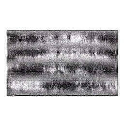 Calvin Klein Donald 34-Inch x 21-Inch Bath Mat in White/Black