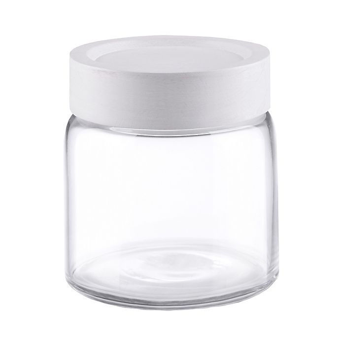 Alternate image 1 for Small Glass Jar with Wood Lid