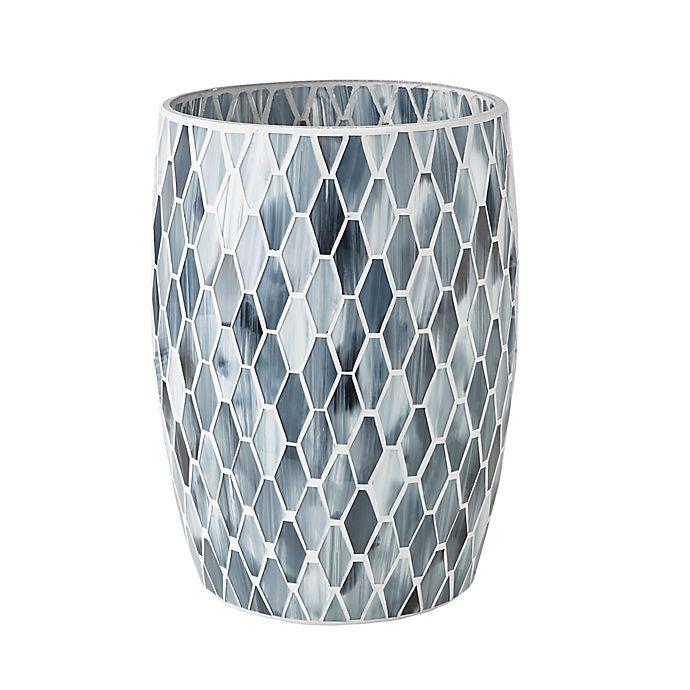 Alternate image 1 for JLA Bath Mosaic Wastebasket in Grey