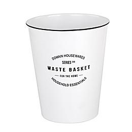 Lifestyle Home Domain Wastebasket in White