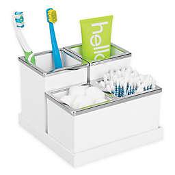 iDesign® Luci 4-Piece Vanity Organizer in White