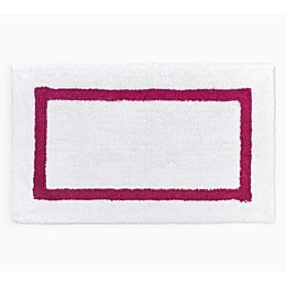 "kate spade new york Dahlia 21"" x 34"" Bath Rug in White/Pink"