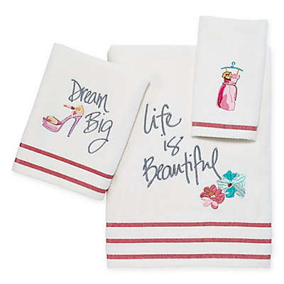 Avanti Dream Big Hand Towel in White