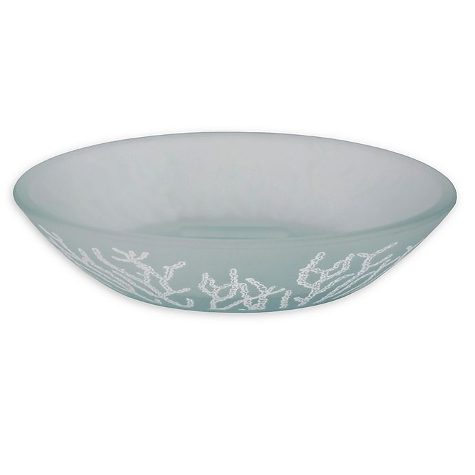 Alternate image 1 for Saturday Knight Coral Reef Glass Soap Dish in Blue