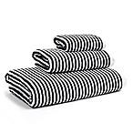 Calvin Klein Donald Bath Towel in White/Black