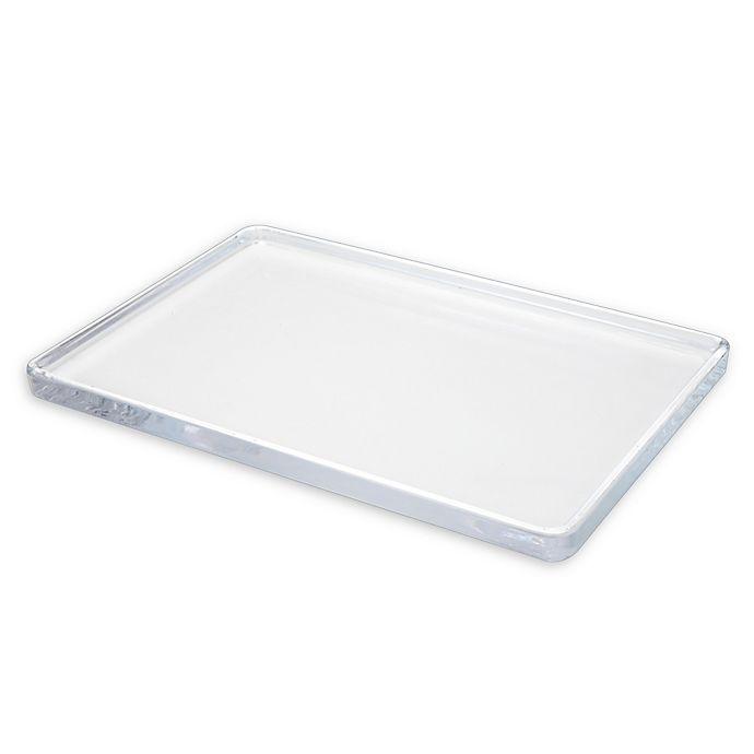 Chelsea Large Glass Vanity Tray | Bed Bath & Beyond
