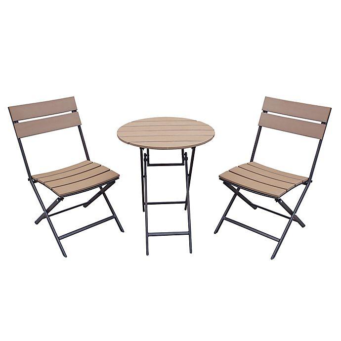 3 Piece Folding Outdoor Bistro Set
