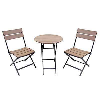 Metro 3-Piece Folding Outdoor Bistro Set