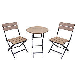 Brilliant Patio Bistro Sets Bistro Tables Chairs Bed Bath Beyond Customarchery Wood Chair Design Ideas Customarcherynet