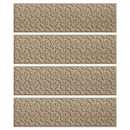 Weather Guard™ Dog Bones Stair Treads in Camel (Set of 4)