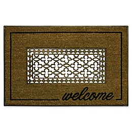 Bacova Grate Welcome Coir Door Mat in Brown