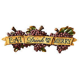 design TOSCANO® Eat, Drink, and Be Merry Wall Sculpture