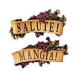 design TOSCANO® Salute and Mangia Wall Sculptures (Set of 2)