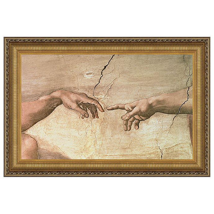 Alternate image 1 for design TOSCANO® 13-Inch x 16-Inch Creation Canvas Stained Replica Painting