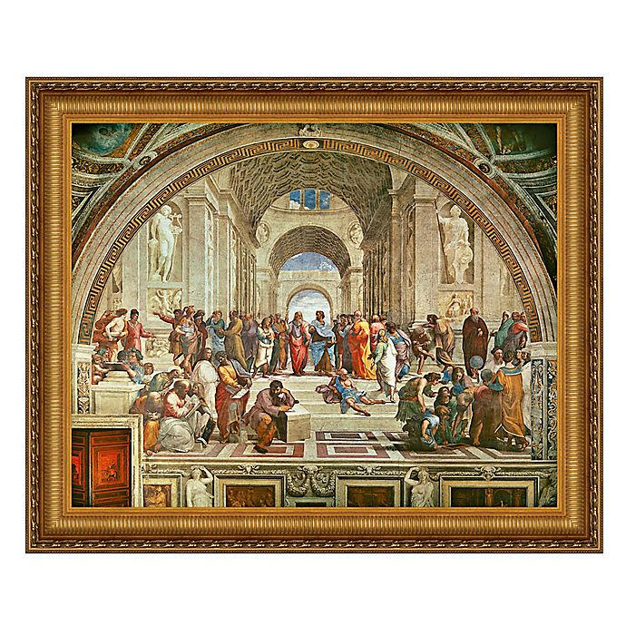 Alternate image 1 for design TOSCANO® 15-Inch x 17-Inch The School of Athens Canvas Replica Painting