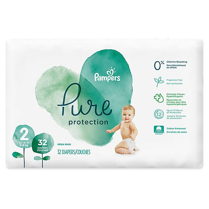 Alternate image 1 for Pampers® Pure Protection 32-Count Size 2 Disposable Diapers
