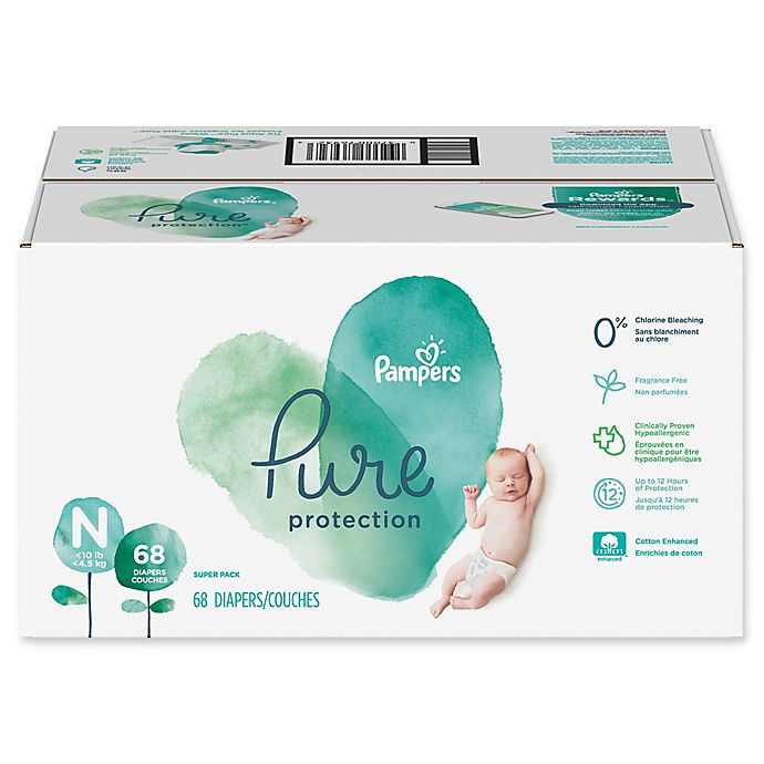 Alternate image 1 for Pampers® Pure Protection 68-Count Size 0 Disposable Diapers
