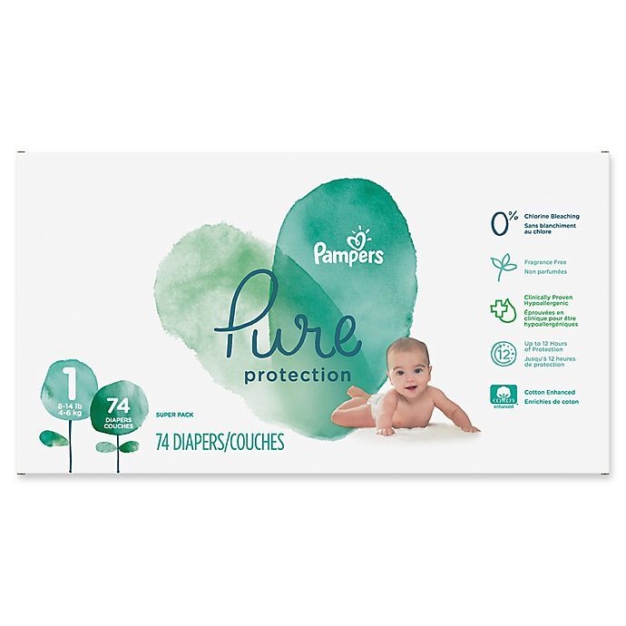 Alternate image 1 for Pampers® Pure Protection 74-Count Size 1 Disposable Diapers