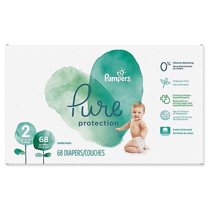 Alternate image 1 for Pampers® Pure Protection 68-Count Size 2 Disposable Diapers