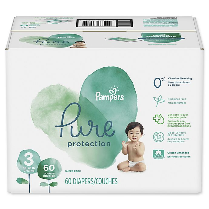 Alternate image 1 for Pampers® Pure Protection 60-Count Size 3 Disposable Diapers