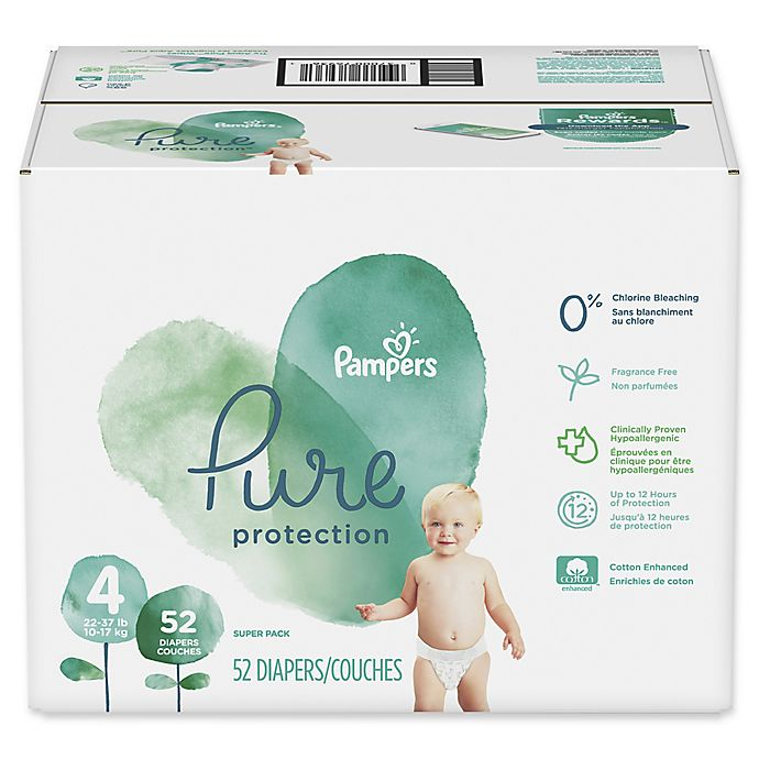 Alternate image 1 for Pampers® Pure Protection 52-Count Size 4 Disposable Diapers