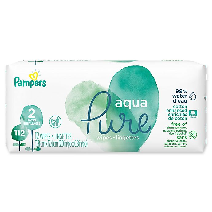 Alternate image 1 for Pampers® 112-Count Aqua Pure Baby Wipes