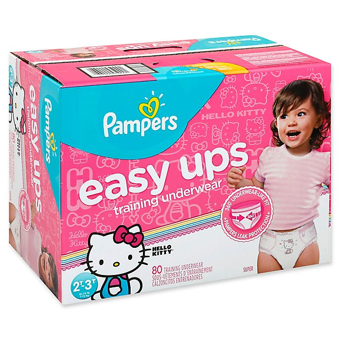 Alternate image 1 for Pampers® Easy Ups Size 2T-3T 80-Count Girl's Training Underwear