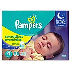Pampers® Swaddlers 58-Count Size 4 Overnights Disposable Diapers