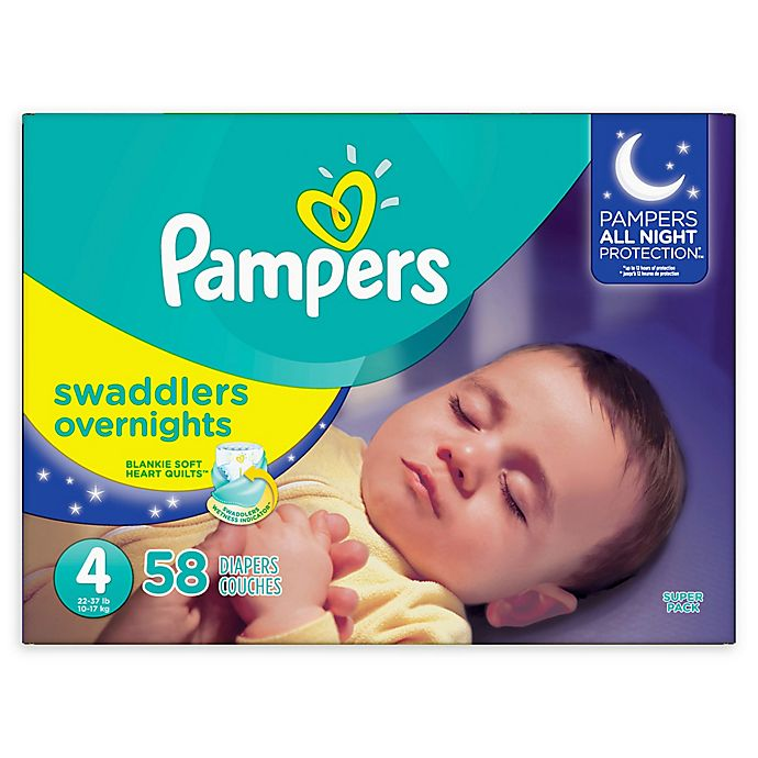 Alternate image 1 for Pampers® Swaddlers 58-Count Size 4 Overnights Disposable Diapers