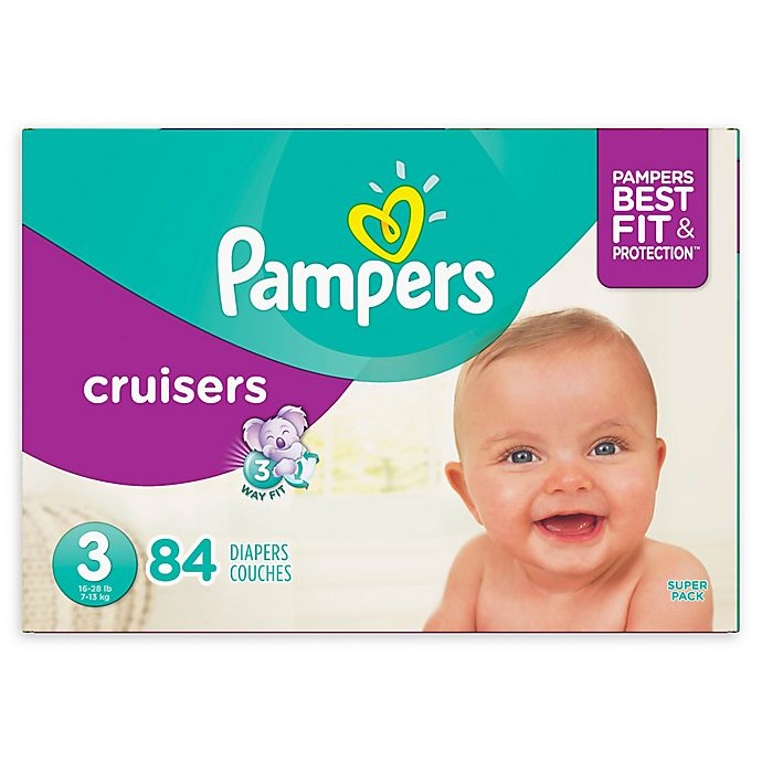 Alternate image 1 for Pampers® Cruisers™ 84-Count Size 3 Super Pack Plus Disposable Diapers