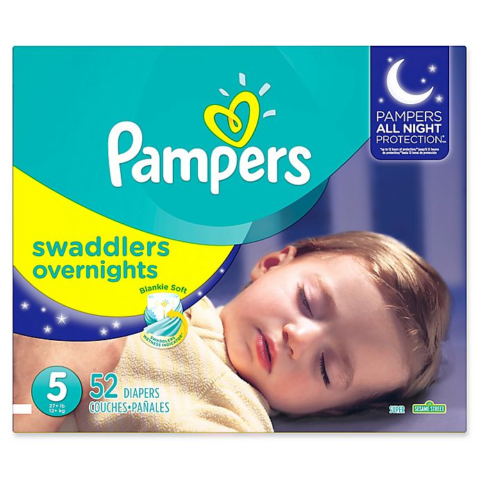 Alternate image 1 for Pampers® Swaddlers Overnights Disposable Diapers