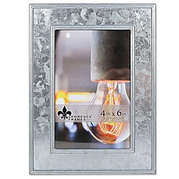 Lawrence Frames 4-Inch x 6-Inch Clarra Galvanized Metal Picture Frame in Silver