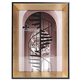 Lawrence Frames Vanessa Black Picture Frame With Brushed Satin Gold Inner Panel