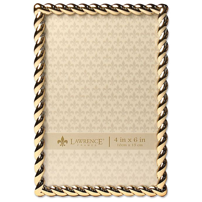 Alternate image 1 for Lawrence Frames 4-Inch x 6-Inch Metal Rope Picture Frame in Gold