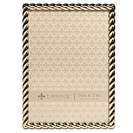 Lawrence Frames Metal Rope Picture Frame in Gold