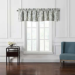 Waterford® Florence Chambray Scalloped Valance in Blue