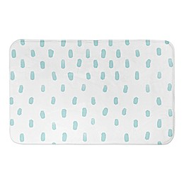Designs Direct Watercolor Dots 34-Inch x 21-Inch Bath Rug in Blue