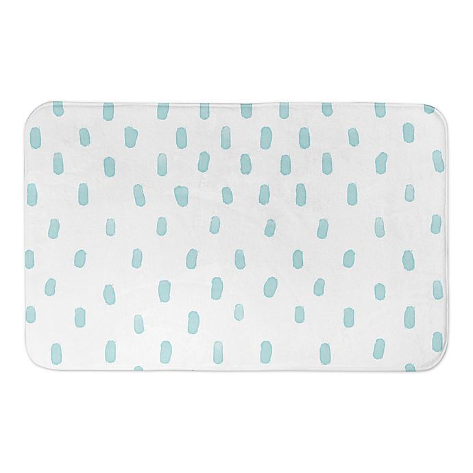 Alternate image 1 for Designs Direct Watercolor Dots 34-Inch x 21-Inch Bath Rug in Blue