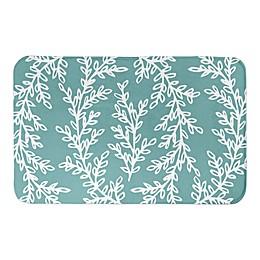 Designs Direct Wreath 34-Inch x 21-Inch Bath Rug in Teal