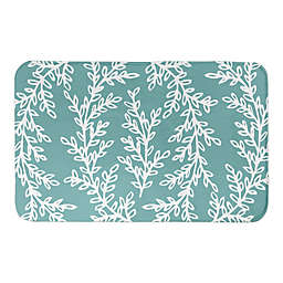 Designs Direct Wreath 34-Inch x 21-Inch Bath Rug in Teal