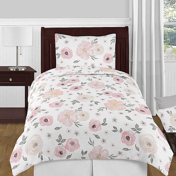 Sweet jojo designs watercolor floral bedding collection in pinkgrey alternate image 1 for sweet jojo designs watercolor floral bedding collection in pinkgrey mightylinksfo