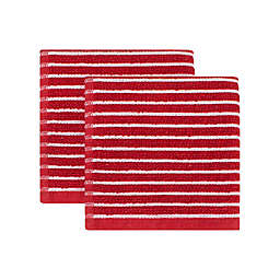 KitchenSmart® Colors Horizontal Stripe 2-Pack Dish Cloths