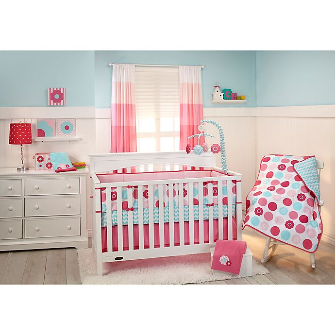 Alternate image 1 for Little Bedding by NoJo® Tickled Pink 3-Piece Crib Bedding Set