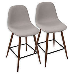 Lumisource™ Metal Upholstered Bar Stools (Set of 2)