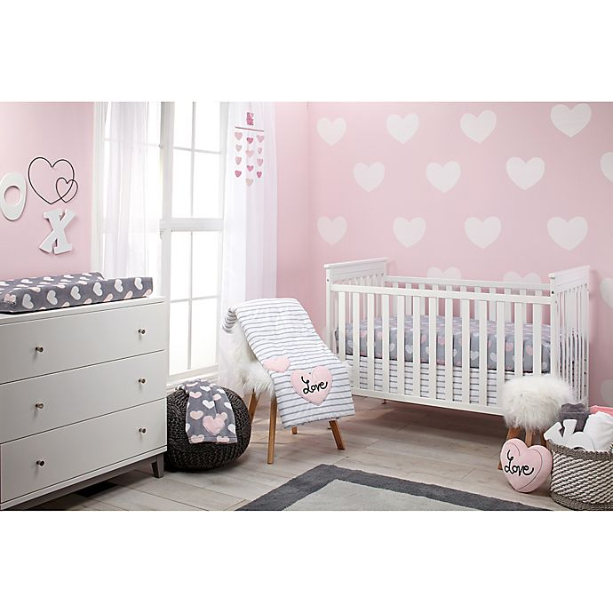 Alternate image 1 for Little Love by NoJo® Hugs and Kisses 5-Piece Crib Bedding Set