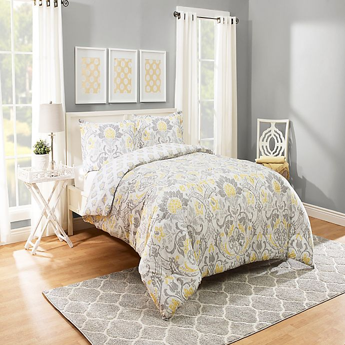 Alternate image 1 for Marble HIll Rayna Reversible King Comforter Set in Grey