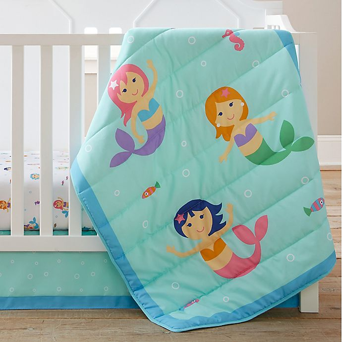 Alternate image 1 for Olive Kids Mermaids 3-Piece Crib Bedding Set
